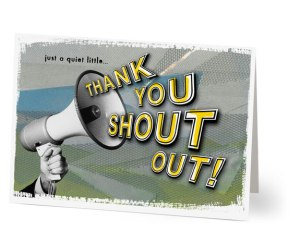 thank you shout out
