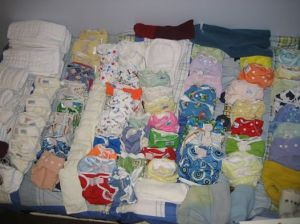 This is a portion of my wife's supplyof cloth diapers for the kids and I'M THE HOARDER???