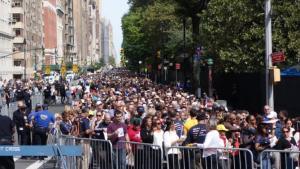 central park crowds