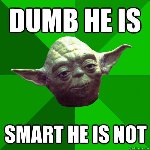 dumb yoda meme