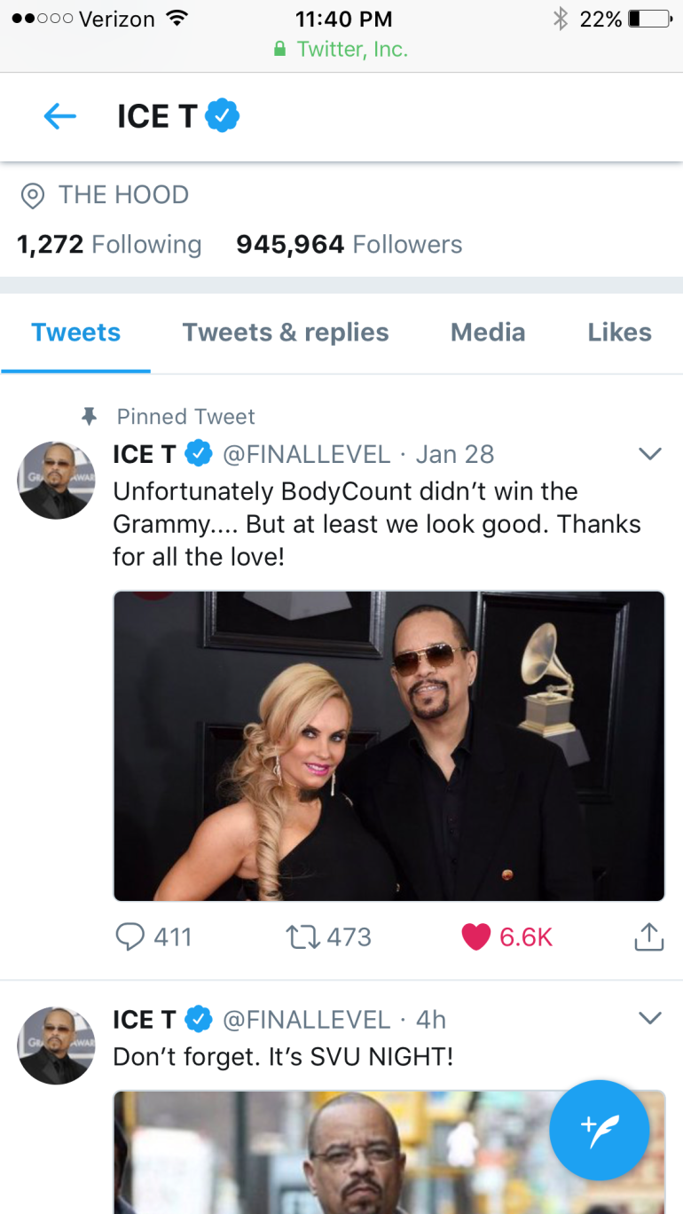 ice today tweet